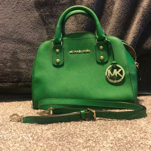 1ed89246221b Emerald green Michael Kors handbag. M_5a8df1b9a825a61a437ca88c